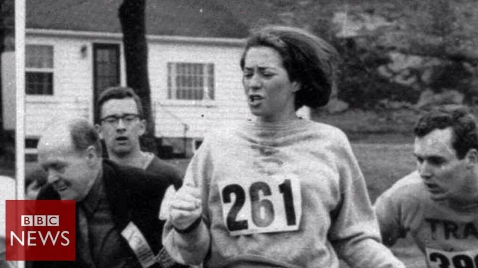 1st woman to run Boston Marathon – Witness – BBC News