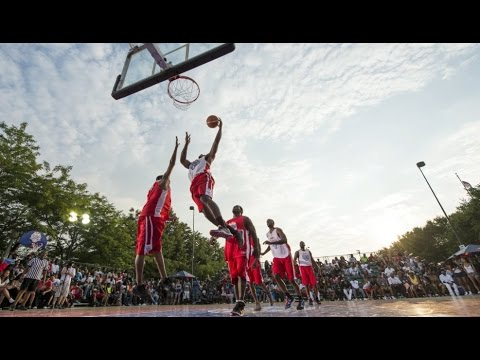 3-on-3 basketball tournament with Anthony Davis