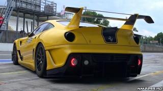 6x Ferrari 599XX EVOs on Track with EPIC Sounds!