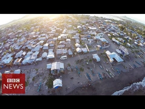 Aerials: Tacloban 6 months after Typhoon Haiyan – BBC News
