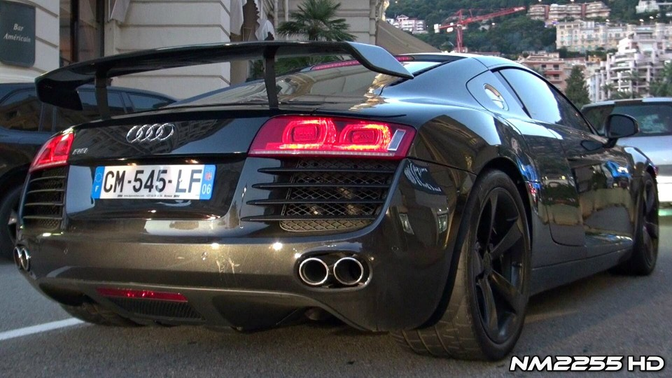 Audi R8 V8 with Meisterschaft Exhaust Loud Sound!