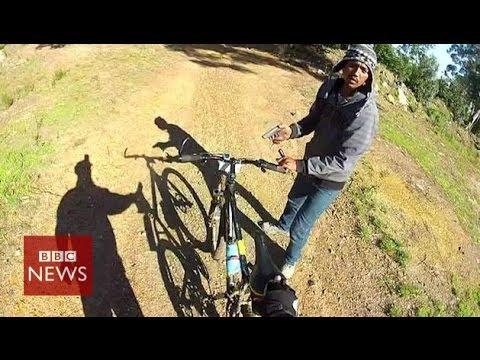 Bike robbery caught on GoPro camera – BBC News