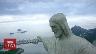 Bird's-eye view of Brazil revealed by hexacopter – BBC News