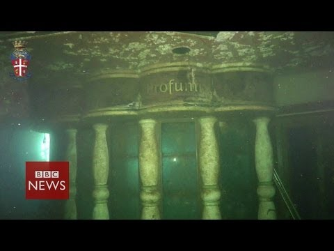 Costa Concordia underwater footage – BBC News