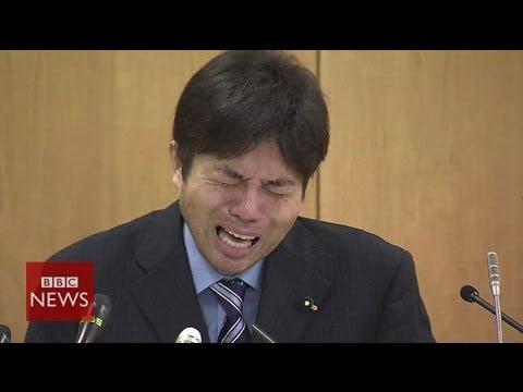 Crying Japanese politician Ryutaro Nonomura is an internet hit – BBC News