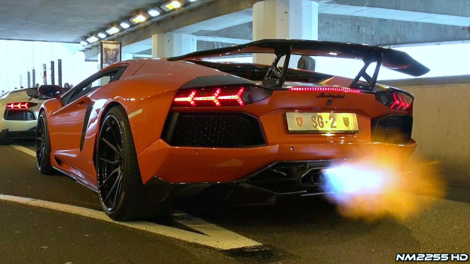 DMC Lamborghini Aventador Spitting FLAMES!!
