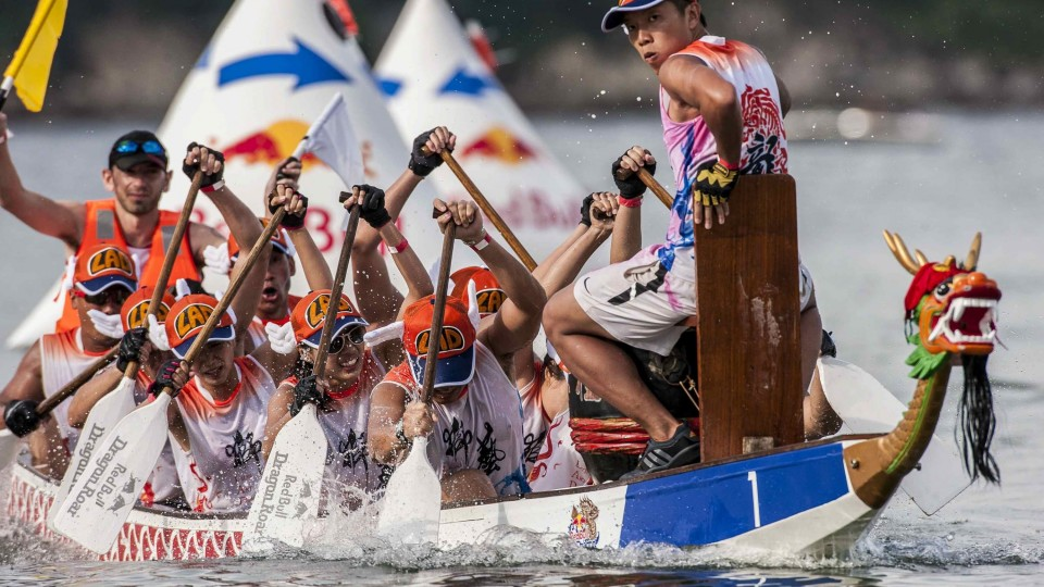 Dragon Boat racing in Hong Kong – Red Bull Dragon Roar 2014