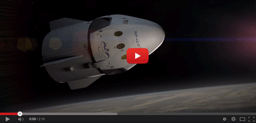 SpaceX Dragon V2 spacecraft, la nuova capsula spaziale.
