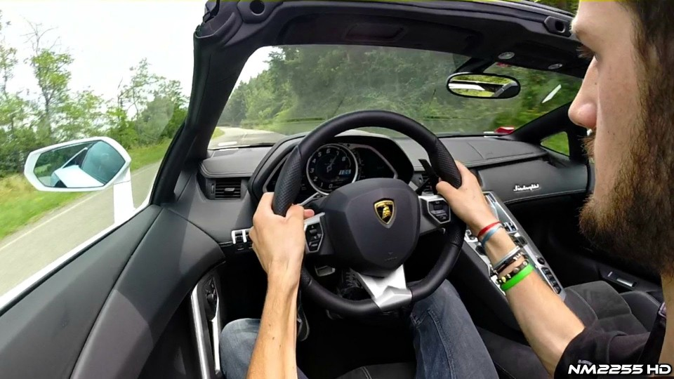 Driving the Lamborghini Aventador Roadster in the Hills – Video Preview
