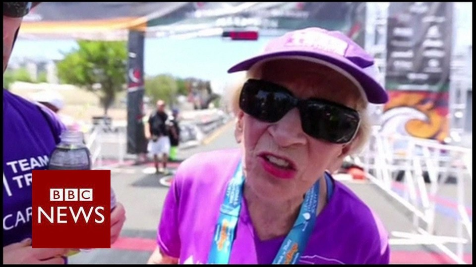 Fastest marathon runner over age 90 – BBC News