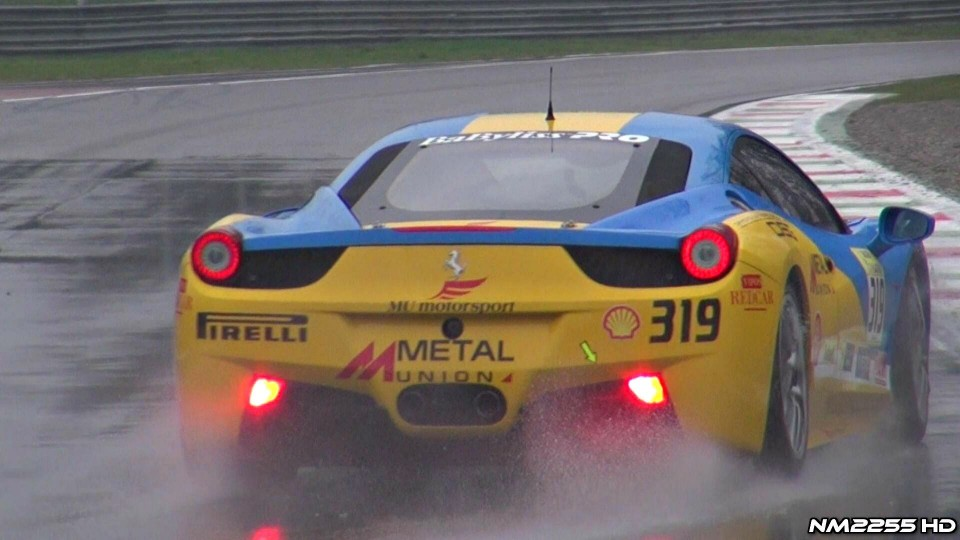 Ferrari 458 Challenge Brutal Downshifts and Accelerations!