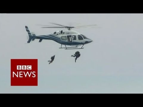 Former US President marks 90th birthday with parachute jump – BBC News