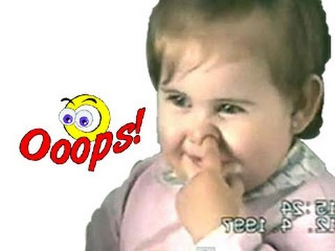 Funny Babies – Funny Home Videos – Nose Digging Baby Video
