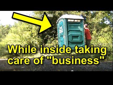 Funny Pranks : Funny Porta Potty SPLASH Prank