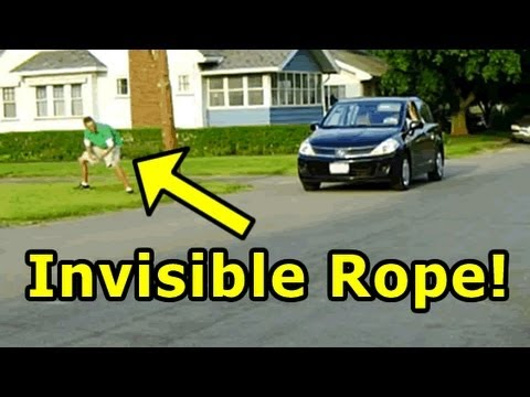 Funny Pranks – Invisible Rope Prank II