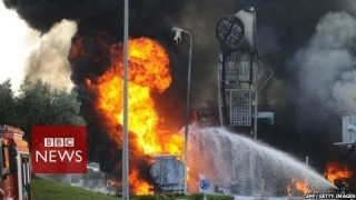 Gaza crisis: Rocket strikes Israeli petrol station – BBC News