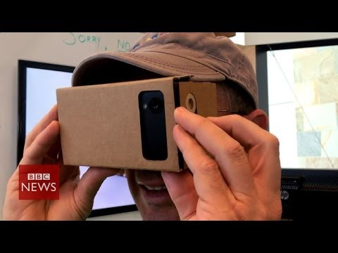 Google's DIY virtual reality cardboard headset – BBC News