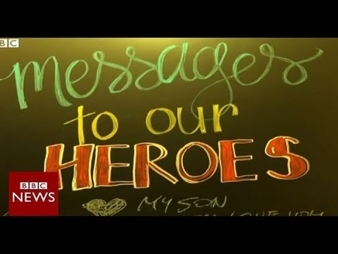 Grief camp helps US families cope with military suicide – BBC News