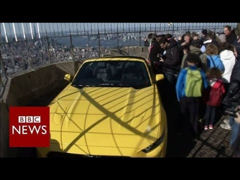 How did a Mustang get to the top of Empire State Building? – BBC News