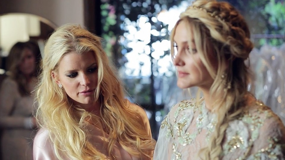 How Jessica Simpson Styled Her Bridesmaids