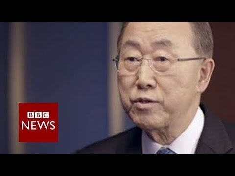"""I believe that he knows… there is no military option."" Ban Ki-Moon on Syria – BBC News"