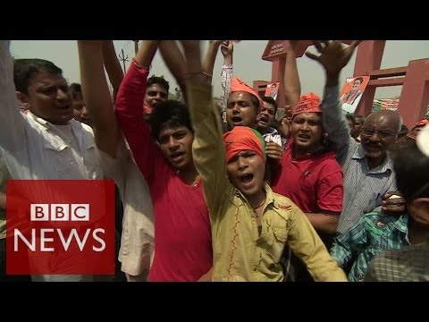 India election: On the ground at Modi rally – BBC News