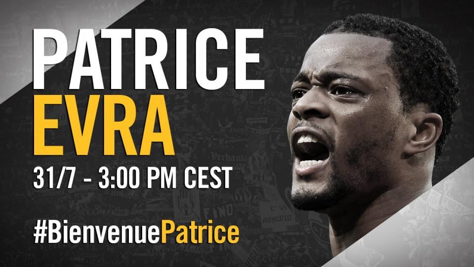 La presentazione di Patrice Evra alla Juventus