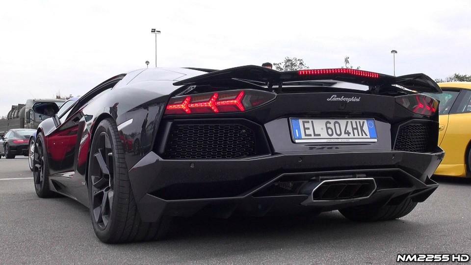 Lamborghini Aventador Sports Exhaust Revving