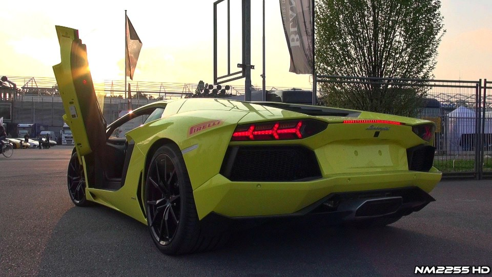 Lamborghini Aventador Starts and Take-Offs