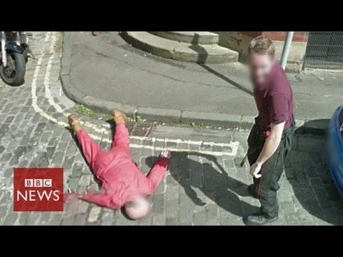 "Man fakes a ""murder"" on Google Street View – BBC News"