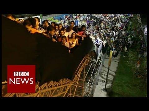 "Maracana's ""rickety"" staircase – Brazil World Cup 2014 – BBC News"