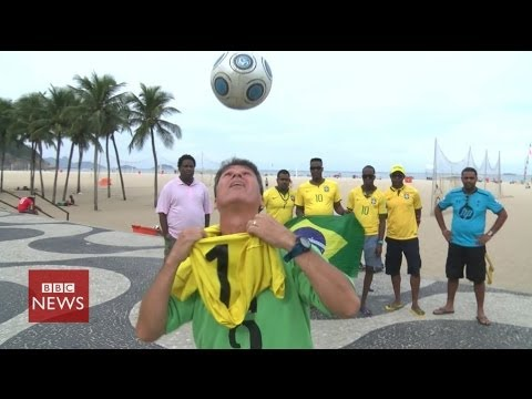Meet Brazil's keepy-uppy champion – BBC News