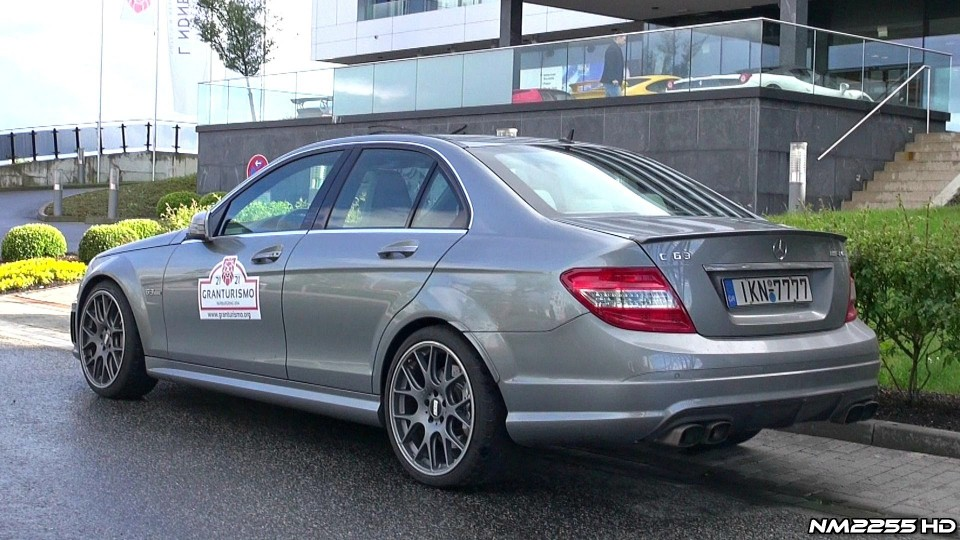 Mercedes C63 AMG with Akrapovic Titanium Exhaust System