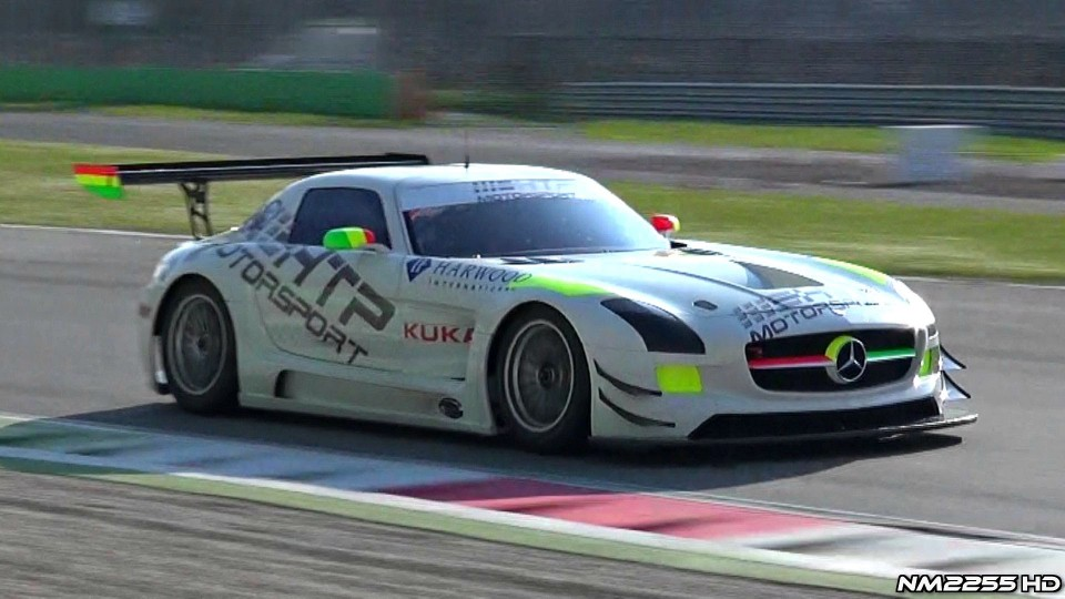 Mercedes SLS AMG GT3 PURE Sound on Track