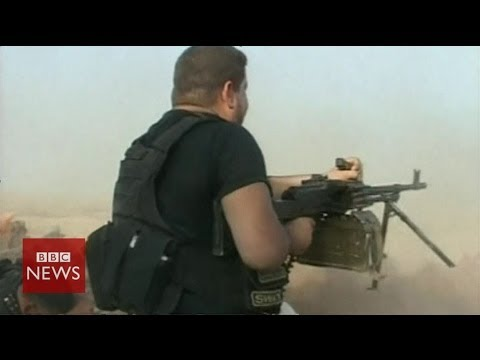 On the frontline with Shia's Badr Army in Iraq – BBC News
