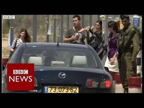 On the road where Israeli teenagers went missing – BBC News