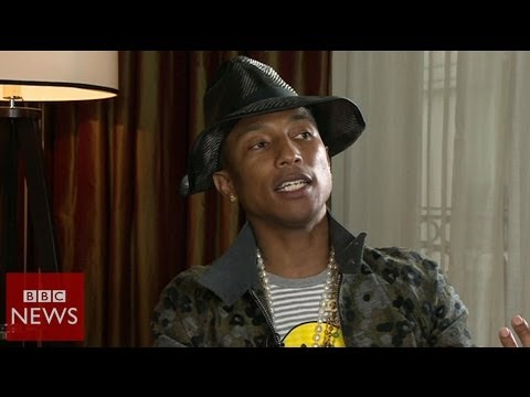 "Pharrell Williams ""Women are not treated equally"" – BBC News"