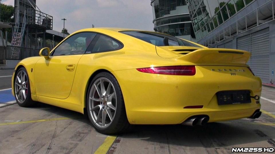 Porsche 991 Carrera S Sport Design Ducktail GREAT Sound