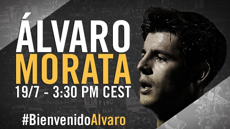 Presentazione di Alvaro Morata alla Juventus – Presentación de Álvaro Morata con la Juventus