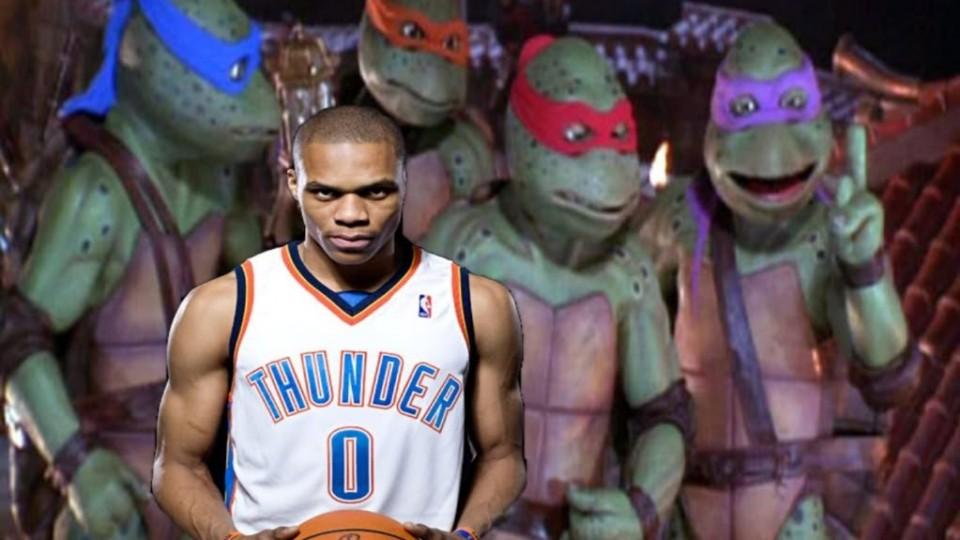 """Russell """"Teenage Mutant Ninja Turtle"""" Westbrook"""