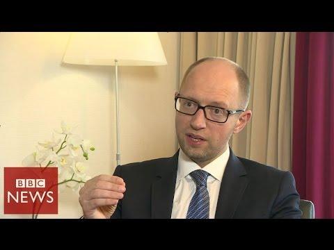 'Russia is trying to build a new Berlin Wall' PM Yatsenyuk tells BBC News