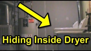 Scare Prank : Hiding in Dryer!