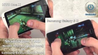 Игра Shadowgun THD (Tegra 3) на HTC One X и Samsung Galaxy S II – сравнение