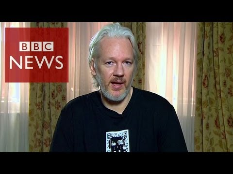 'Should US/UK be able to spy on world at once?' Assange – Click – BBC News