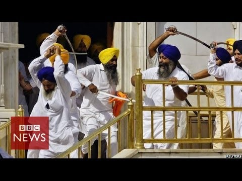 Sikh groups clash with swords at India's Golden Temple – BBC News