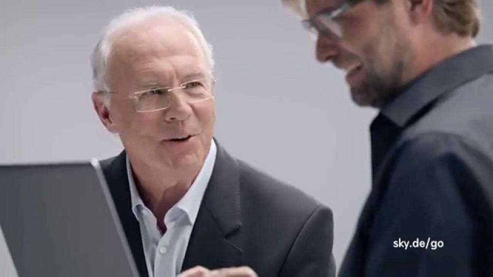 Sky Go Werbung: Klopp vs. Beckenbauer (TRIPLE)