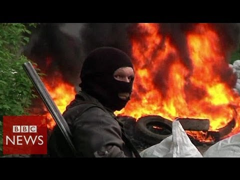 Sloviansk rebels down army helicopters – BBC News