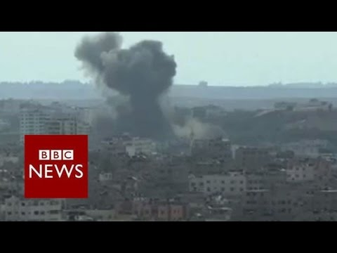 Smoke rises over Gaza – BBC News