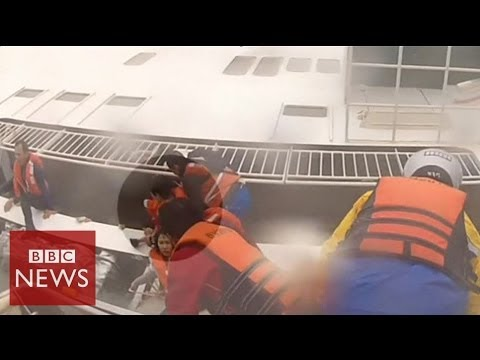 Video shows desperate search for South Korea ferry survivors – BBC News