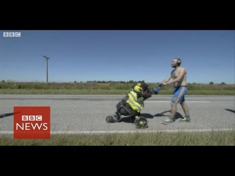 Walking 2,000km to World Cup in Brazil- BBC News